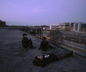 grunge, purple, and sky image