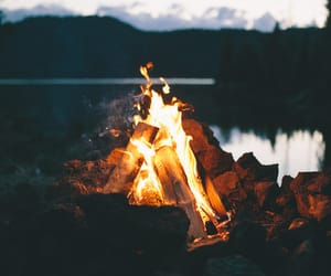 aesthetic, beach, and fire image