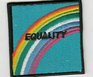 blue, equality, and rainbow image