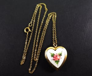 etsy, pink rose, and pendant necklace image
