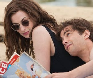 Anne Hathaway, beach, and movie image