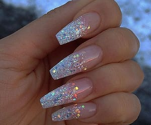 coffin, glitter, and nails image