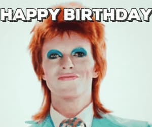 birthday, bowie, and gif image
