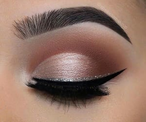 beautiful, lashes, and silver image