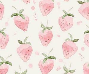 background, fresas, and pastel image