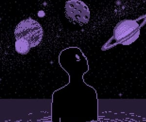 purple, aesthetic, and alien image