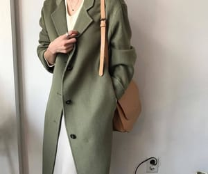 aesthetic, coat, and olive image