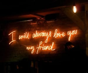 friend, friendship, and neon image