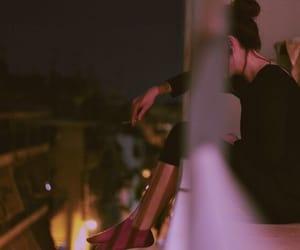 girl, tumblr, and night image