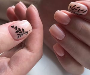flower, nails, and Nude image