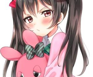 anime, girl, and plush image