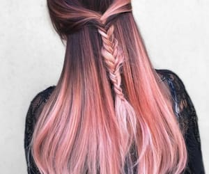 braid, pink, and hair image