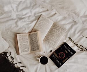 bed, tolkien, and books image