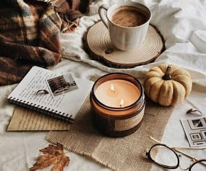autumn, notes, and coffee image