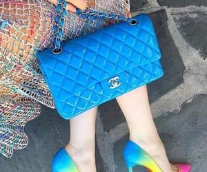 bag, rainbow, and chanel image