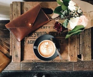 coffee, flowers, and vintage image