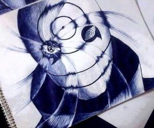 fan art, naruto, and obito image