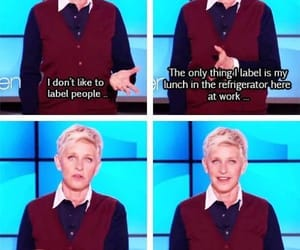 funny, ellen, and lesbian image