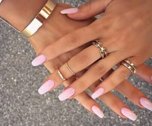 acrylics, goals, and pink image