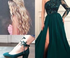 dress, moda, and hair image