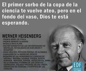 dios, ciencia, and werner heisenberg image