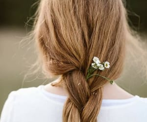 flower and hair image