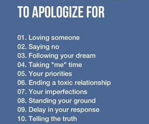 sorry, apologize, and love myself image