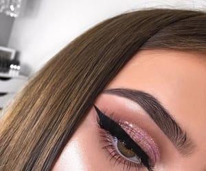 eye, eyes, and winged eyeliner image