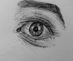 draw, eye, and oeil image