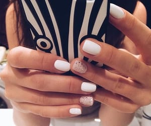 fancy, nails, and white image