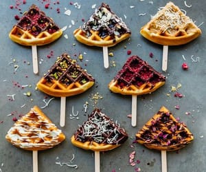 food and waffle image