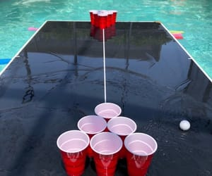 beer, beer pong, and carefree image