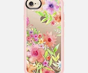 iphonecover, clearcase, and flowers image