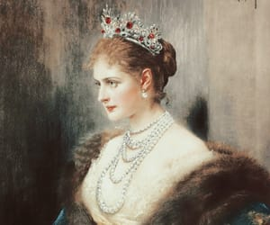 art, pearls, and Queen image