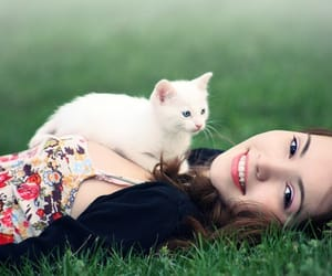 girl with cat image