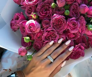 beuty, nails, and flowers image