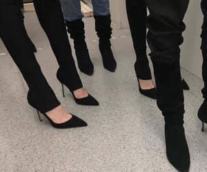 black, heels, and highheel image