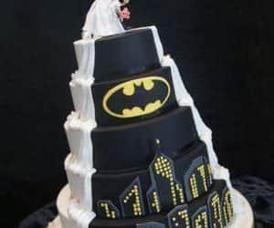 batman, cake, and super heroe image
