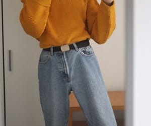 aesthetic, mom jeans, and clothing image