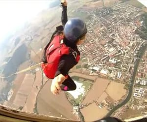 adrenaline, skydive, and skydiving image