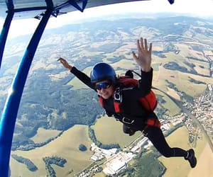 adrenaline, parachute, and skydive image