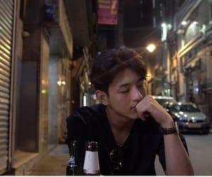 handsome, night, and koreanactor image