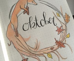 automne, oktober, and bullet journal image