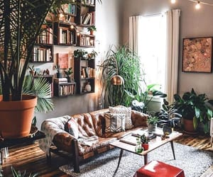 brown, house, and living room image