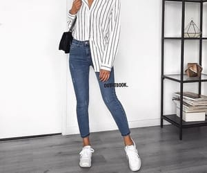 blouse, outfit, and ootd image