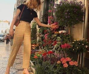 fashion, flowers, and orange image