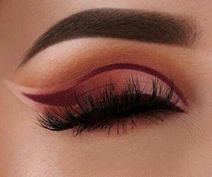 art, makeup, and maroon image
