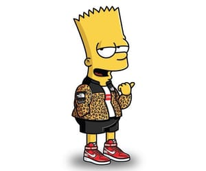 90s, yellow aesthetic, and bart simpson image