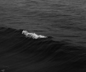 black, black and white, and ocean image