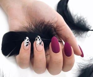black, pretty, and nailart image